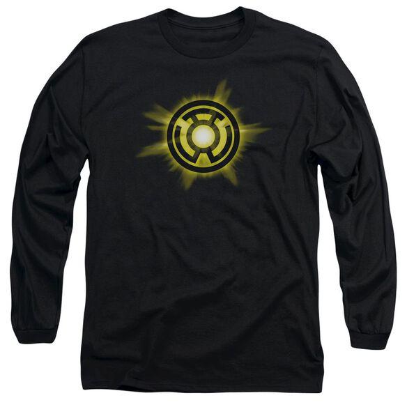 Green Lantern Yellow Glow Long Sleeve Adult T-Shirt