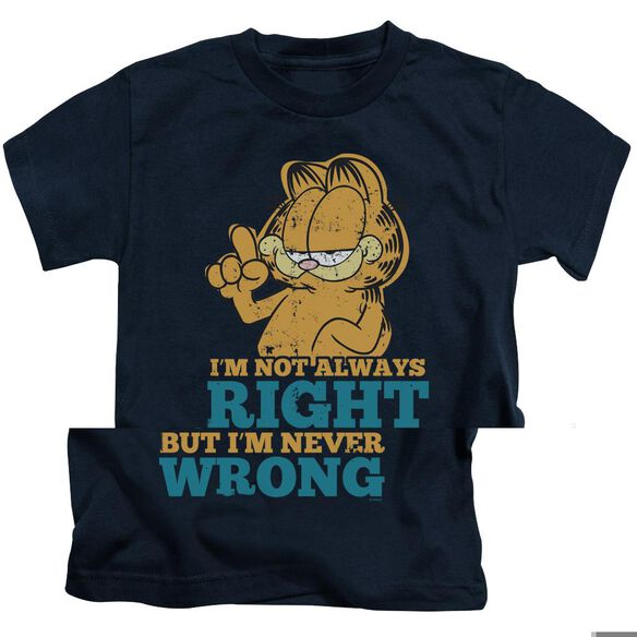 GARFIELD NEVER WRONG - S/S JUVENILE 18/1 - NAVY - T-Shirt
