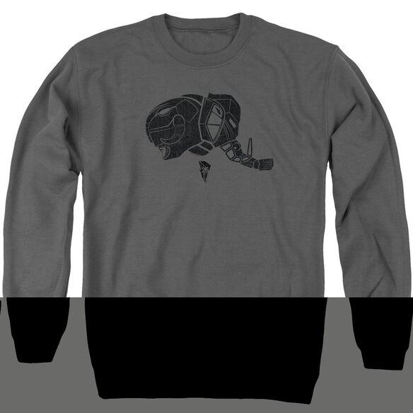 Power Rangers Black Adult Crewneck Sweatshirt