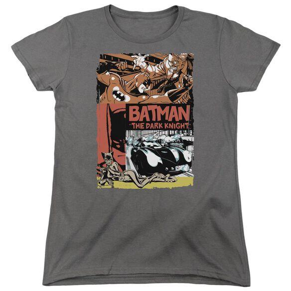 Batman Old Movie Poster Short Sleeve Womens Tee T-Shirt