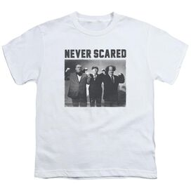 Three Stooges Never Scared Short Sleeve Youth T-Shirt