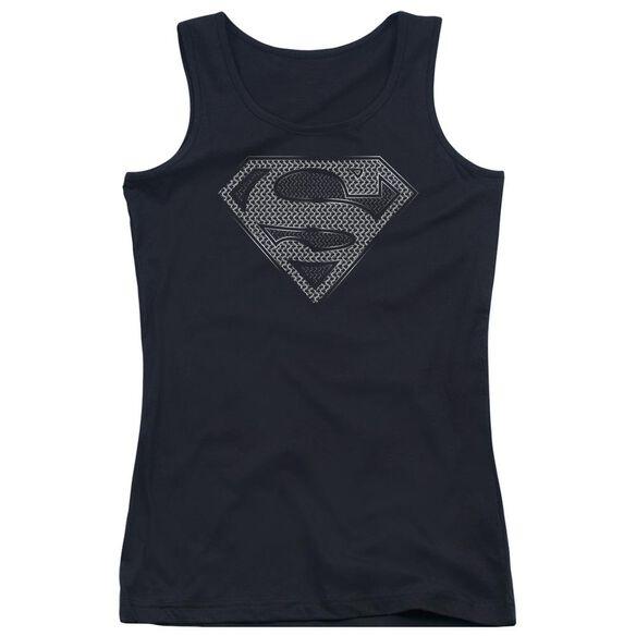 Superman Chainmail Juniors Tank Top