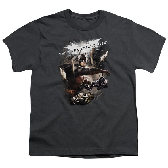 Dark Knight Rises Imagine The Fire Short Sleeve Youth T-Shirt