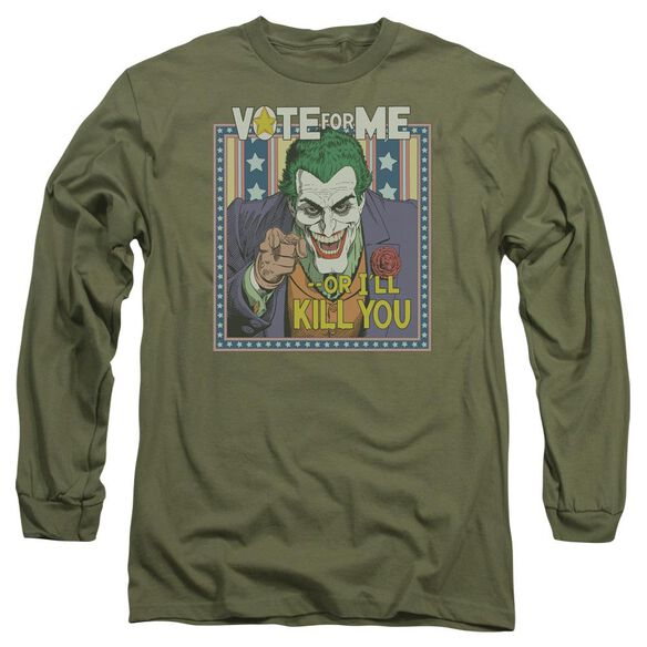 BATMAN DARK DETECTIVE #1 - L/S ADULT 18/1 - MILITARY GREEN T-Shirt