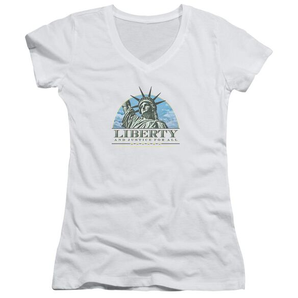 Liberty And Justice Junior V Neck T-Shirt