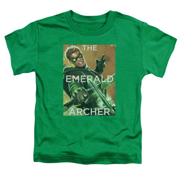 Jla Trigger Short Sleeve Toddler Tee Kelly Green T-Shirt