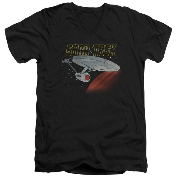 Star Trek Retro Enterprise Short Sleeve Adult V Neck T-Shirt