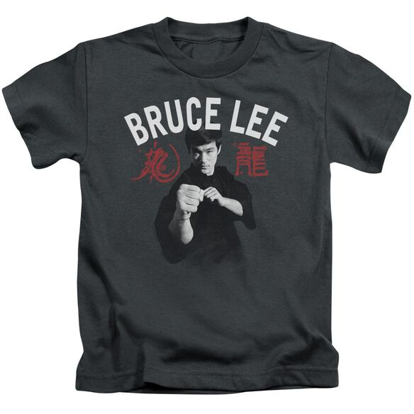 Bruce Lee Ready Short Sleeve Juvenile Charcoal T-Shirt