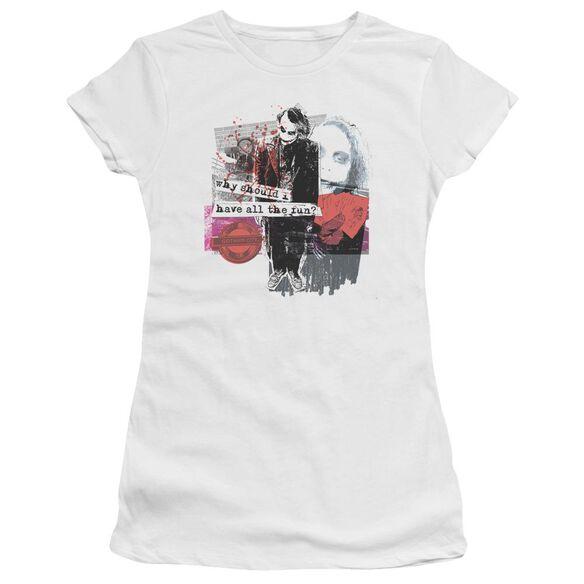 Dark Knight Share The Joy Short Sleeve Junior Sheer T-Shirt