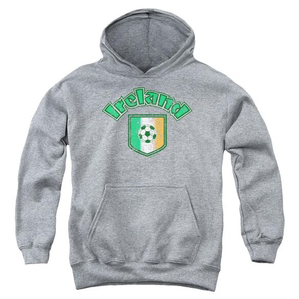 Ireland With Soccer Flag Youth Pull Over Hoodie