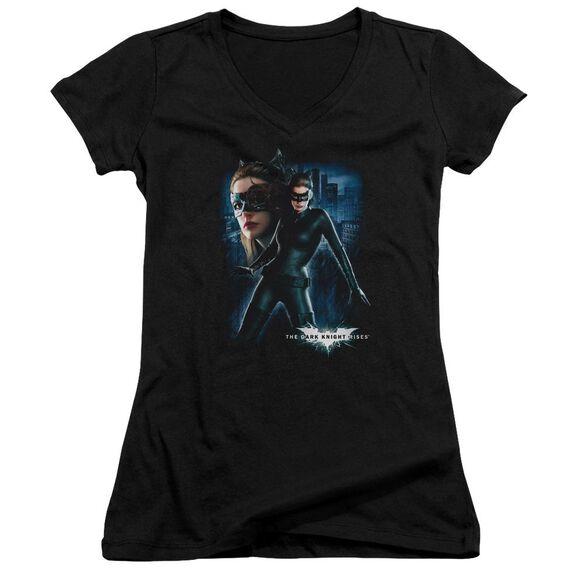Dark Knight Rises Catwoman Junior V Neck T-Shirt