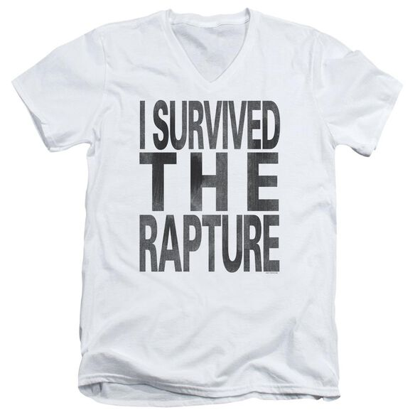 I Survived The Rapture Short Sleeve Adult V Neck T-Shirt