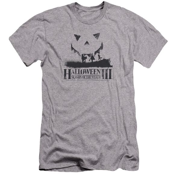 Halloween Iii Silhouette Premuim Canvas Adult Slim Fit Athletic