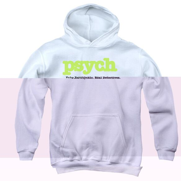 Psych Title Youth Pull Over Hoodie