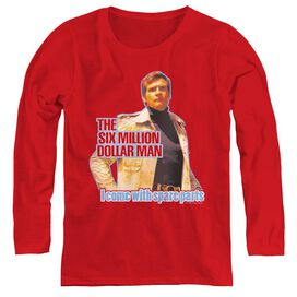 SIX MILLION DOLLAR MAN SPARE PARTS - WOMENS LONG SLEEVE TEE
