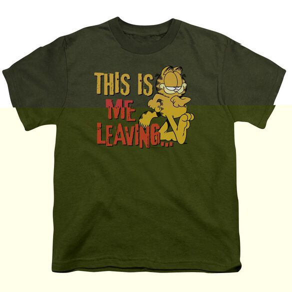 GARFIELD LEAVING - S/S YOUTH 18/1 - MILITARY GREEN T-Shirt