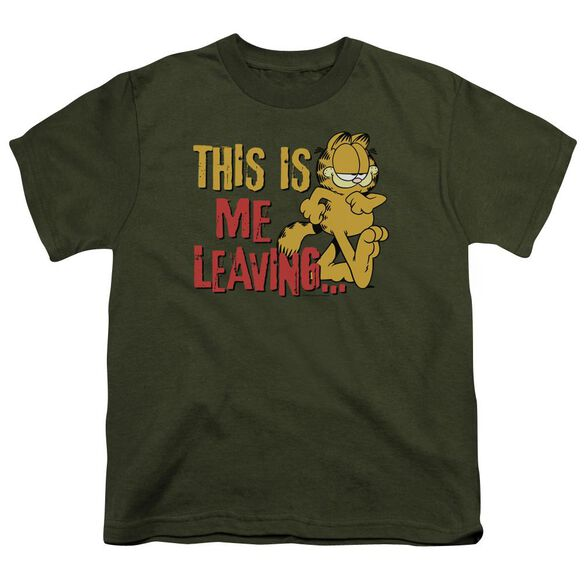 Garfield Leaving Short Sleeve Youth Military T-Shirt