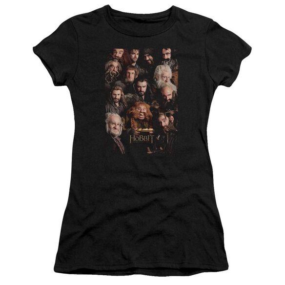 The Hobbit Dwarves Poster Short Sleeve Junior Sheer T-Shirt