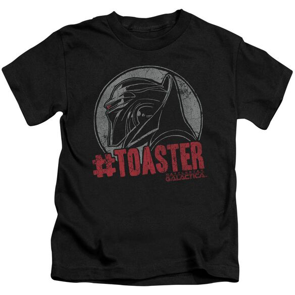 Bsg #Toaster Short Sleeve Juvenile Black T-Shirt