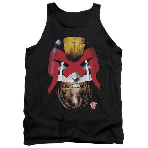 Judge Dredd Dredds Head - Adult Tank - Black