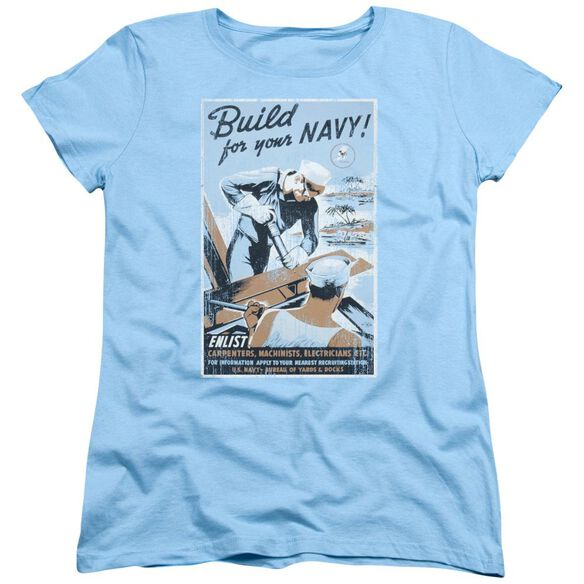 Navy Build Your Navy Short Sleeve Womens Tee Light T-Shirt