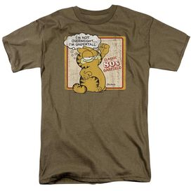 Garfield Undertall Short Sleeve Adult Safari Green T-Shirt