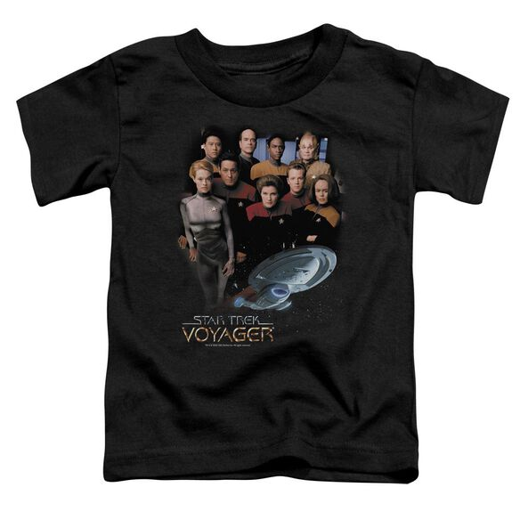 Star Trek Voyager Crew Short Sleeve Toddler Tee Black Md T-Shirt