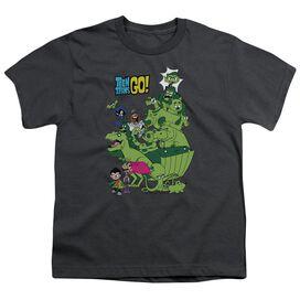 Teen Titans Go Beast Boy Stack Short Sleeve Youth T-Shirt