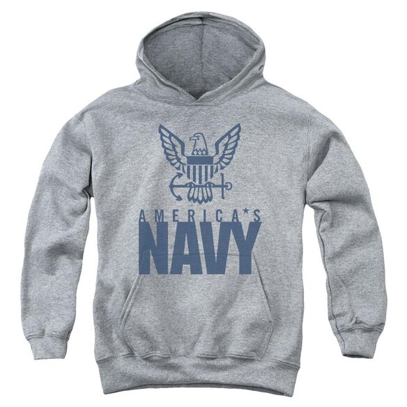 Navy Eagle Logo Youth Pull Over Hoodie