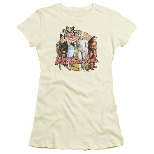 Wizard Of Oz Directions Short Sleeve Junior Sheer T-Shirt