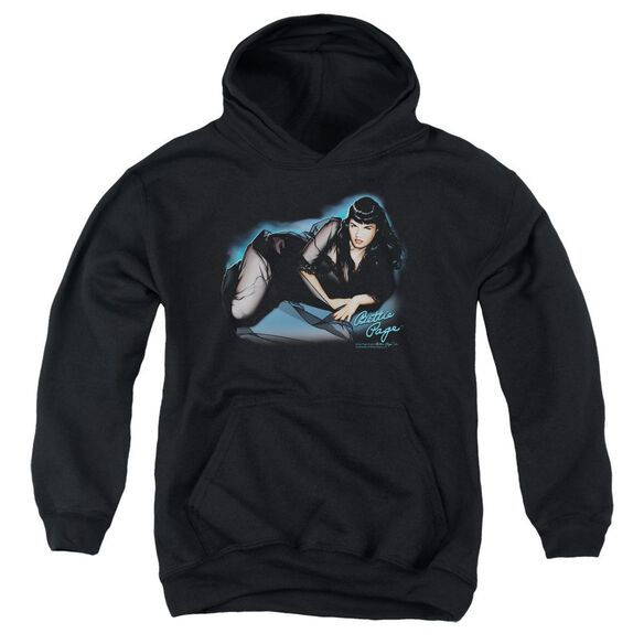 Bettie Page Blue Moon Youth Pull Over Hoodie