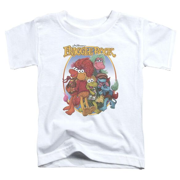 Fraggle Rock Group Hug Short Sleeve Toddler Tee White T-Shirt