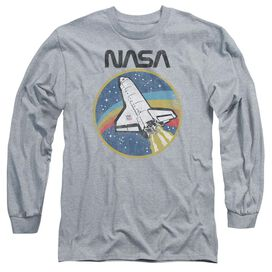 Nasa Shuttle Long Sleeve Adult Athletic T-Shirt