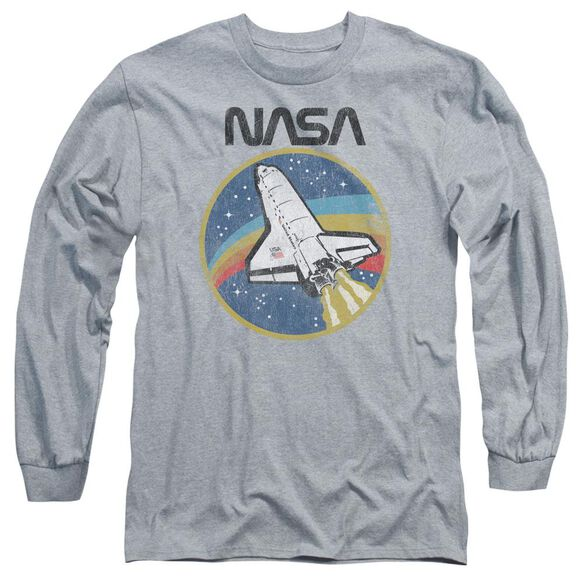 Nasa Shuttle Long Sleeve Adult Athletic T-Shirt
