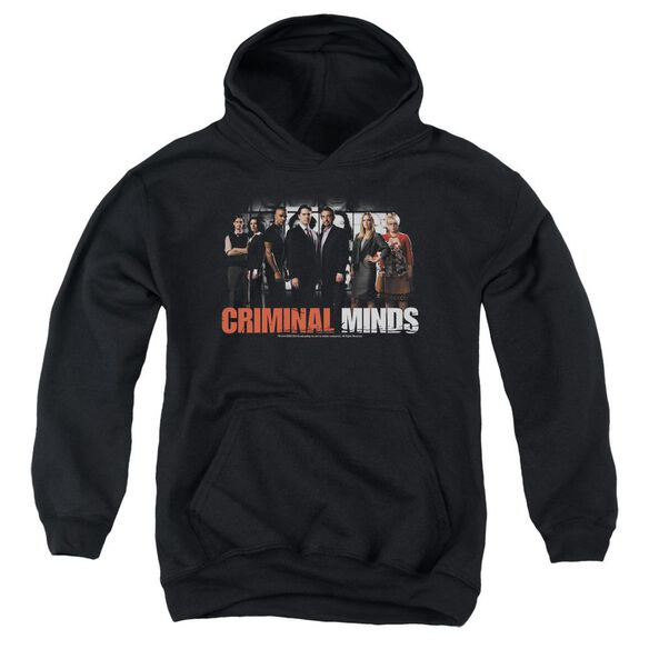 Criminal Minds The Brain Trust-youth Pull-over Hoodie - Black