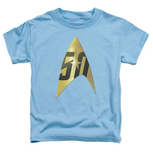 Star Trek 50 Th Anniversary Delta Short Sleeve Toddler Tee Carolina Blue T-Shirt