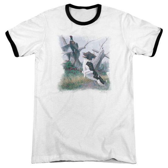 Wildlife Springer With Pheasant Adult Ringer White Black