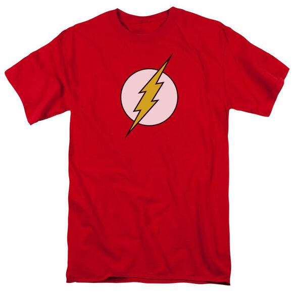 Dc Flash Flash Logo Short Sleeve Adult Red T-Shirt