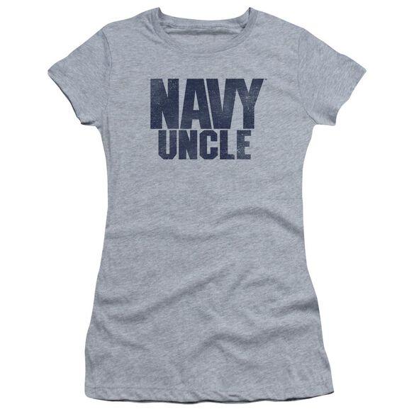 Navy Uncle Short Sleeve Junior Sheer Athletic T-Shirt