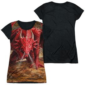 Anne Stokes Dragons Lair Short Sleeve Junior Poly Black Back T-Shirt
