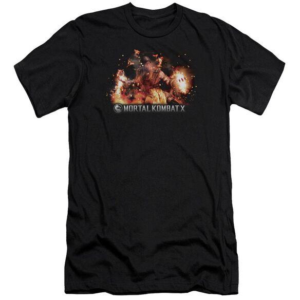 Mortal Kombat X Scorpio Flames Premuim Canvas Adult Slim Fit