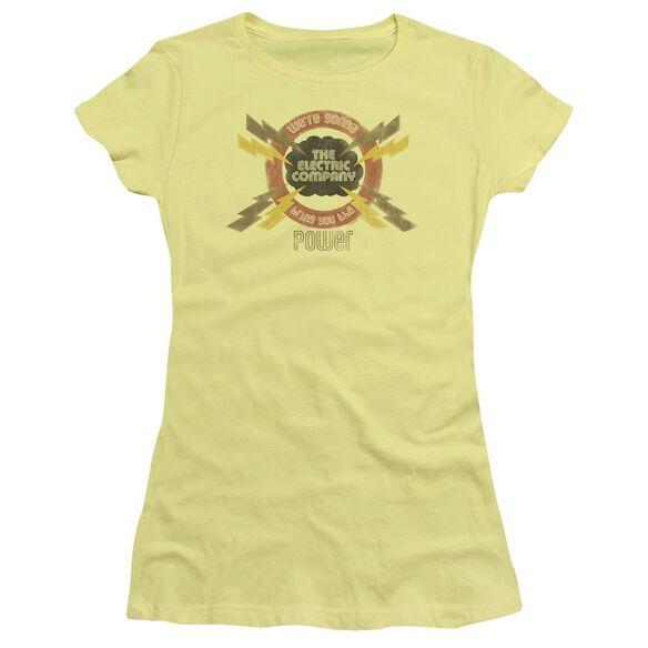 Electric Company Power Short Sleeve Junior Sheer T-Shirt