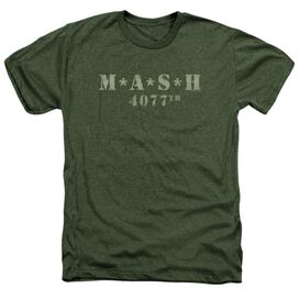 Mash Distressed Logo Adult Heather Military