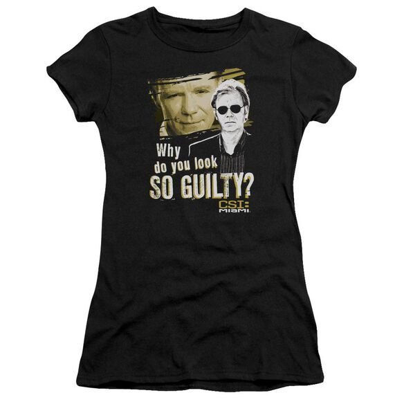 Csi Miami So Guilty Short Sleeve Junior Sheer T-Shirt