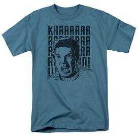 Star Trek Khan Yell Short Sleeve Adult Slate T-Shirt