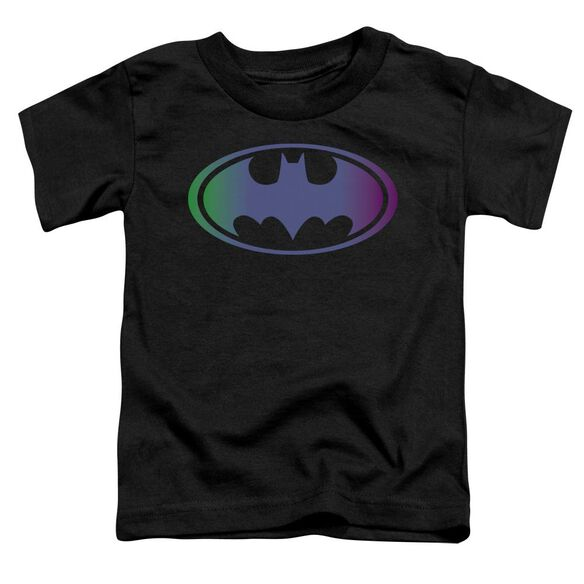 Batman Gradient Bat Logo Short Sleeve Toddler Tee Black Lg T-Shirt