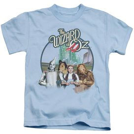 Wizard Of Oz We're Off To See Wizard Short Sleeve Juvenile Light Blue T-Shirt