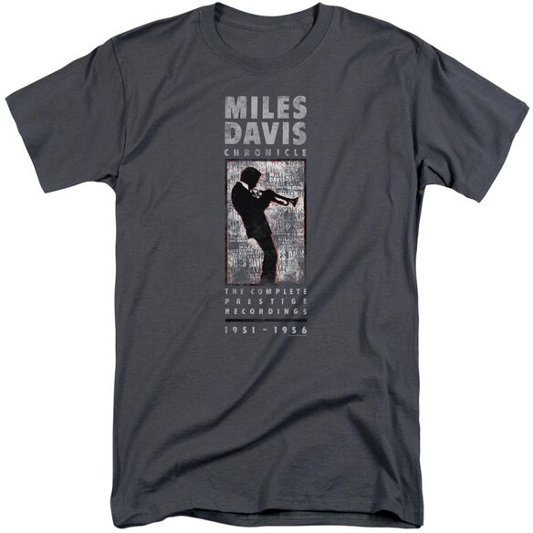 Miles Davis Miles Silhouette Short Sleeve Adult Tall T-Shirt