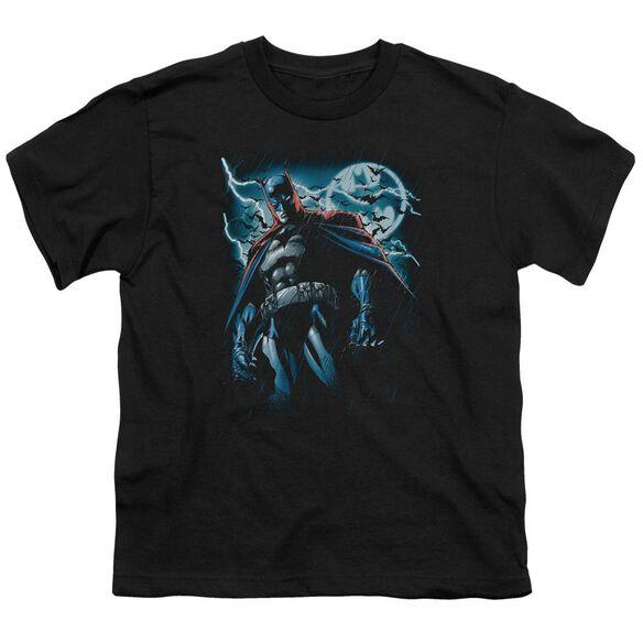 BATMAN STORMY KNIGHT - S/S YOUTH 18/1 - BLACK T-Shirt