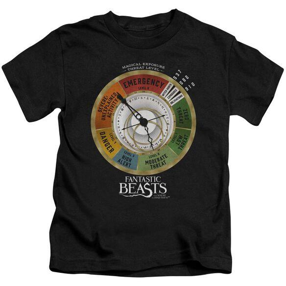 Fantastic Beasts Threat Gauge Short Sleeve Juvenile Black T-Shirt